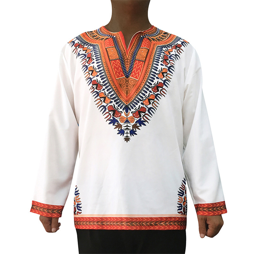 2019 Men African Clothes Rich Bazin Traditional African Clothing Africa T-shirt Dresses for Men Dashiki Print Clothing M~3XL