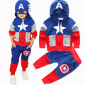 New Captain America Boys Suit Set Children Clothing Set Kids Jogging Sets Boys Tracksuits Kids Hooded Sports Clothes 18M-6Y J071