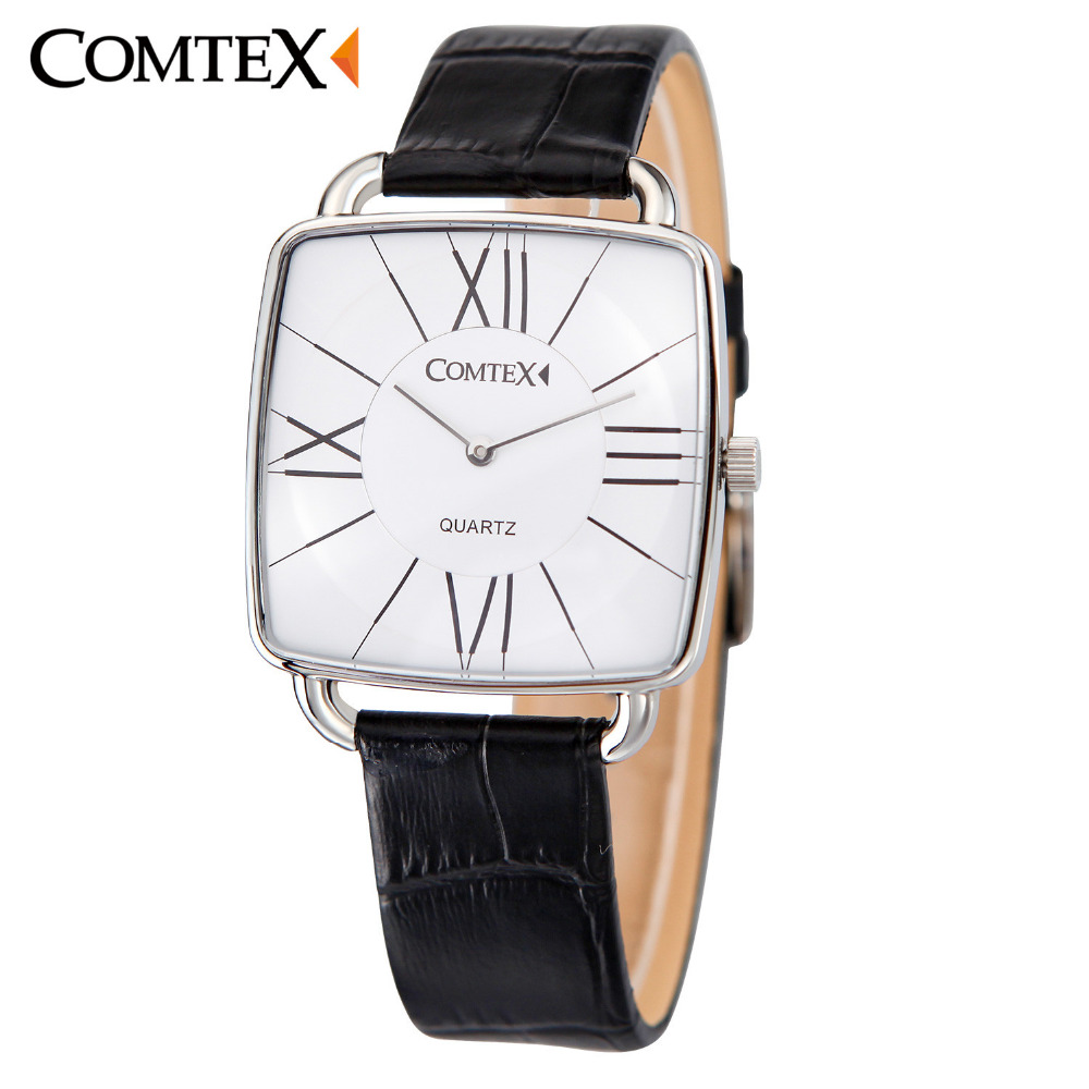 New Fashion Business Male Female Watch Men Casual Luxury Brand Quartz Watch Men Waterproof  Leather Relogio Masculino S6365G