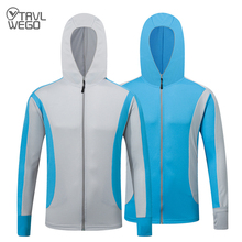 TRVLWEGO Fishing Shirt Outdoor Sport Ultraviolet-proof Hiking Jacket Anti-mosquito Clothing Suit Men Spring Fishing Clothes