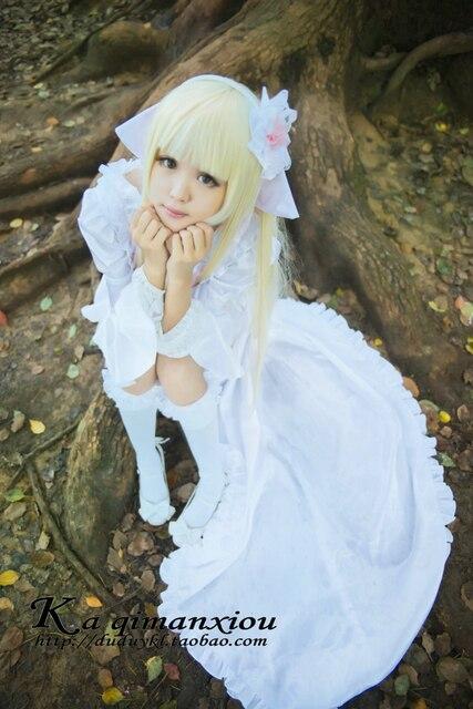 Chobits Eruda Cosplay Costume Anime Japan Chopieces Lolita Dress White Black  COS Costumes 6131c90d970e