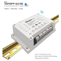 ITEAD Sonoff 4CH 4CH PRO 4 Gang 433MHZ Din Rail Mounting Wireless WIFI Smart Switch Home
