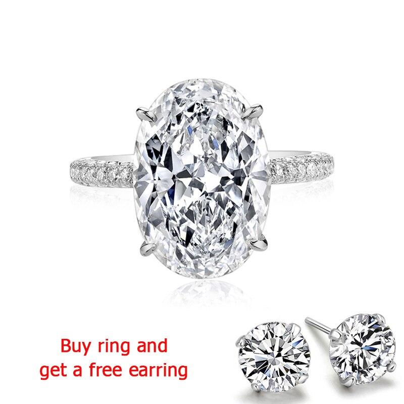 QYI Ringe für Frauen 5 ct 925 Sterling Silber Hochzeit Ringe Oval cut Zirkonia Zubehör Schmuck Geschenk-in Ringe aus Schmuck und Accessoires bei  Gruppe 1