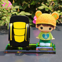 Car Ornament Decoration Multifunction Cute Shaking Head Doll Toy Automotive Interior Decor Mobile Phone Holder Accessories Gifts