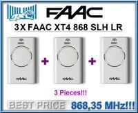 3 X FAAC XT4 868 SLH LR пульт дистанционного управления, белый 868,35 МГц прокатный код. 3 предмета в комплекте