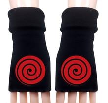 Anime Cartoon Naruto Ninja Hokage Winter Warm Half Finger Glove
