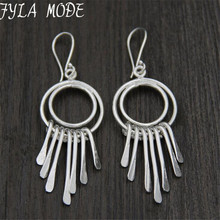 цены Vintage Tassel Earrings 925 Thai Silver Round Drop Earrings Thailand Bohemian Jewelry For Women Gift Party