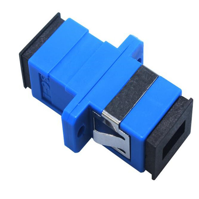 200 unids/lote Nuevo adaptador de fibra óptica SC, SC acoplador brida, adaptador SC/UPC, acoplador de fibra para las comunicaciones digitales