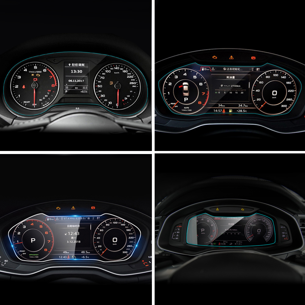 Car Instrument Panel Screen Protector For Audi A1 A3 A4 A5 A6 A7 A8 8X 8P B8 B9 C6 C7 4GB D4 D5 Protective Film Car Accessories