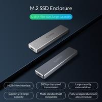 ORICO SSD Case Enclosure M.2 NVME Hard Disk Cases Mini Clip Push Open Storage Case 2TB M.2 Key To USB 3.1 Hard Drive Enclosure