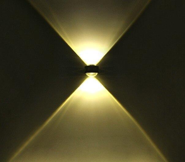 Free shipping warm white wall light 1x2W high power led ...
