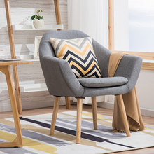 лучшая цена Nordic wood chair casual coffee shop simple dining chair desk creative restaurant wooden chair