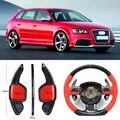 Карбоновое волокно шестерни DSG руль весло переключения крышка подходит для Audi RS3 2012/RS6 2009/S3 14-17