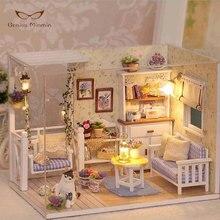 Christmas Gift Mini DIY Doll House Handmade Building Model Wooden Furniture Blocks Toys Birthday Gifts Pasto
