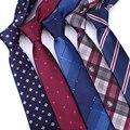 Men ties necktie Men's vestidos business wedding tie Male Dress legame gift gravata England Stripes JACQUARD WOVEN 6cm