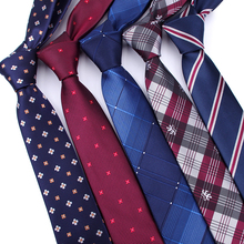 Men ties necktie Men's vestidos business wedding tie Male Dress legame gift gravata England Stripes JACQUARD WOVEN 6cm(China)