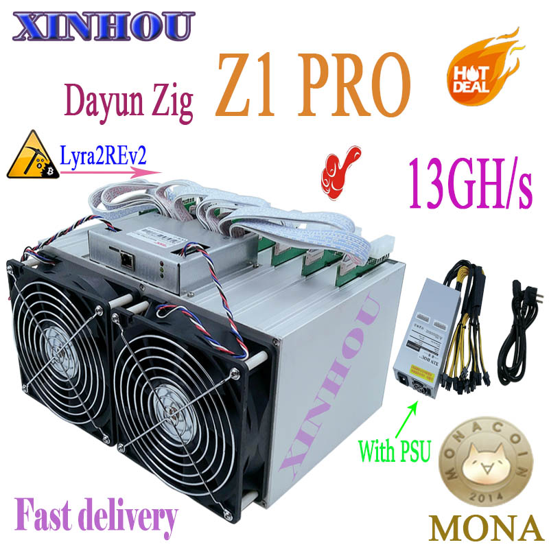 US $2076 0 |Newest ASIC miner ZIG MINER Z1 PRO with PSU Hash Algorithm  Lyra2REv2 Mining MONA ORE XVG STAK VTC Better Than Z1+ A9 Z11-in Network