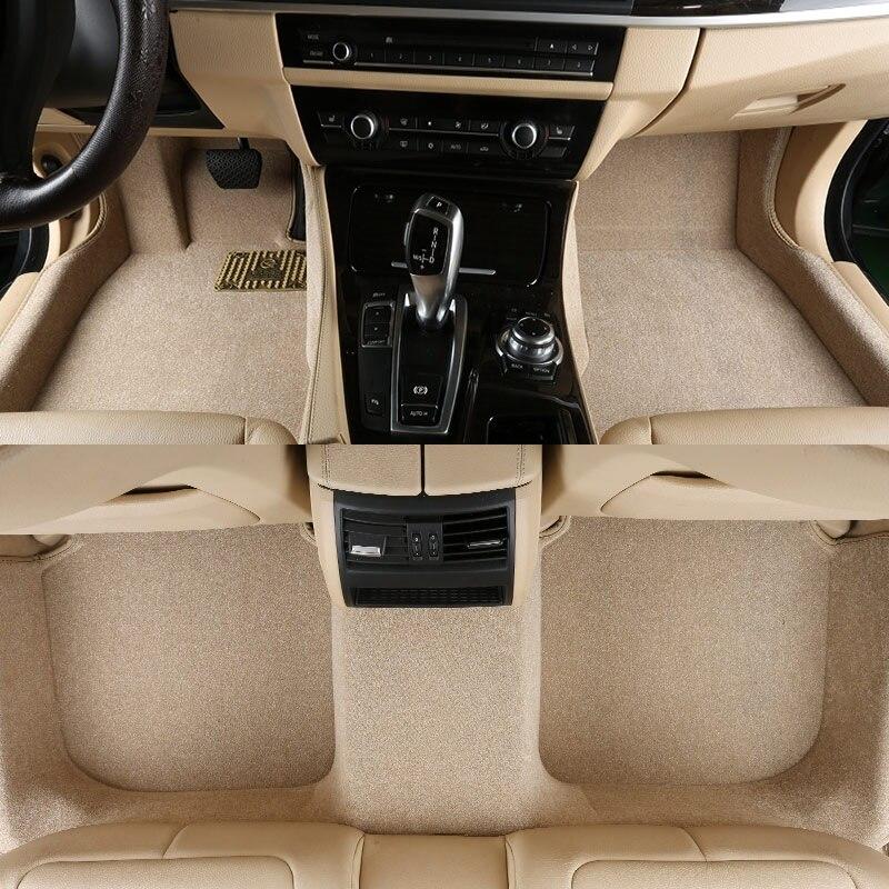 Tapis de sol de voiture tapis tapis tapis de sol pour Audi A1 A3 A4 A5 A6 A7 A8 A8L Q3 Q5 Q7 S6 S7 S8 SQ5 TT RS4 RS5 convertible RS6 RS7 - 4