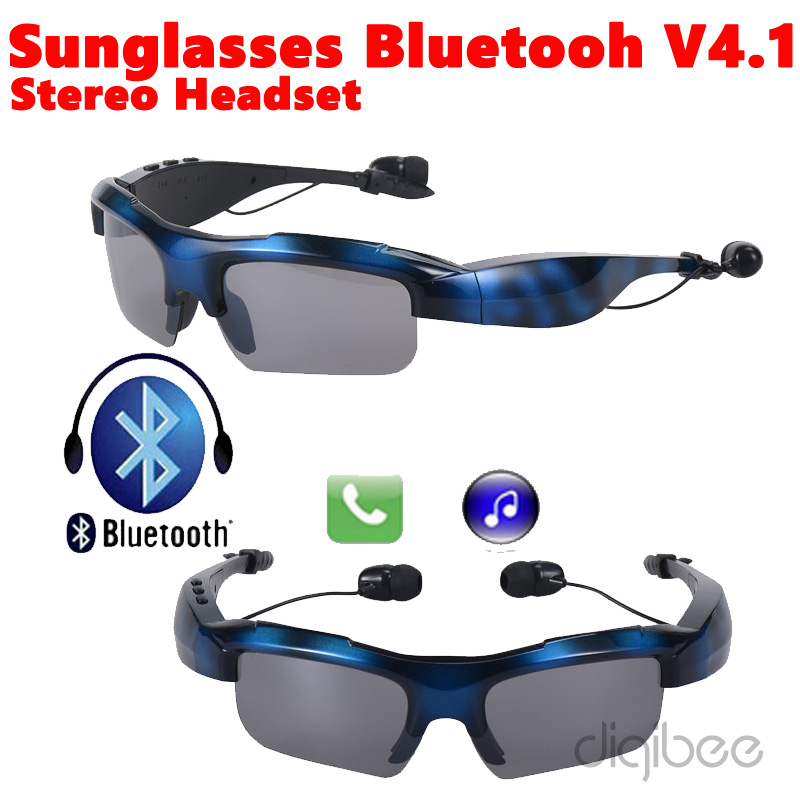 2017 New Wireless Bluetooth 4.1 Sunglasses Stereo Headset with Mic For iPhone 5 5s 6 6s 7 Plus Airpods Xiaomi Huawei Smartphones