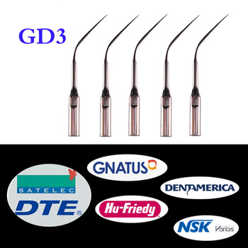 5 pcs/lot Dental Ultrasonic Scaler Tip GD3 for DTE/ Satelec/ NSK Varios/ Gnatus/ Bonart/ Rollence-S/ HU-FRIEDY/ DENTAMERICA 3 pcs lot dental scaler tip ed4d for dte satelec nsk gnatus bonart dentist endo device instrument teeth whitening