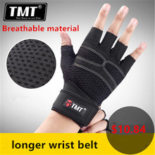 TMT 2 Styles Body Building Gym Fitness Gloves men with Long Belt Weightlifting Crossfit Gloves ST01