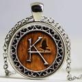 1pcs Dark Tower Gunslinger Steampunk Themed pendant jewelry Glass Cabochon Necklace