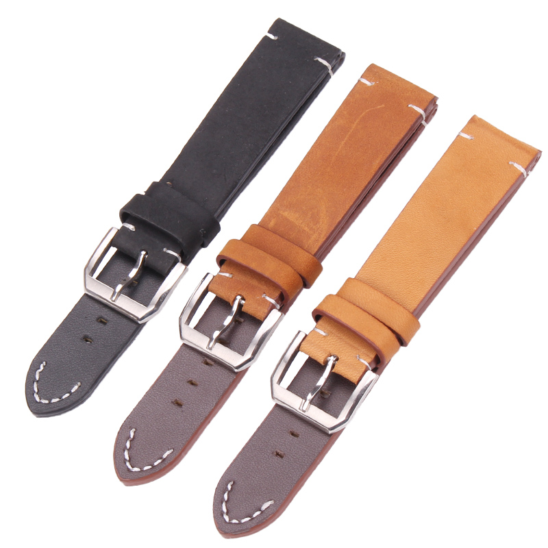 Italy Genuine Leather Watchbands 20mm 22mm Women Wen Brown Black Watch Band Strap Accessories For Tissot For Casio zlimsn genuine leather watchbands for tissot black brown watch strap silver butterfly clasp 20 22 24 26mm watches accessiores