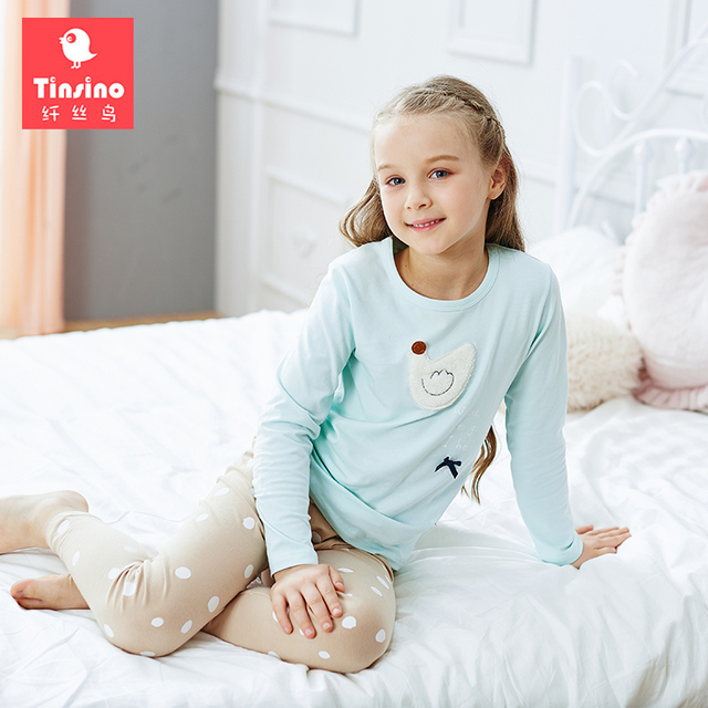 f454da937f Tinsino Children Girls Autumn Pajama Sets Long Sleeve Cartoon Pajamas Kids  Girl s Winter Underwear Spring Sleepwear