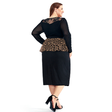 Women's High Waisted Plus Size Floral Lace Peplum Skirt