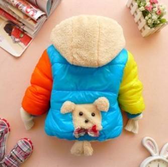 Boys&Girls Cartoon Bear Outwear