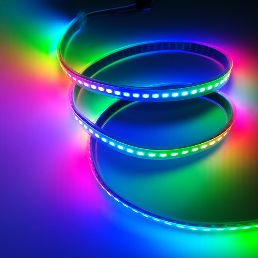 Individually Addressable RGB LED Strip Light WS2812B SK6812 LED Stripe DC 5V 5050 Waterproof Diode Flexible Neon Led Tape Lamp