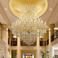 Hotel Lobby Chandelier Lighting Maria Theresa Crystal Chandeliers Large Luxury Big Hanging Lamps Home Light lustre de cristal
