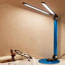 LED touch on/off switch 3 mode table lamp protection eye dimming rechargeable USB simple double head