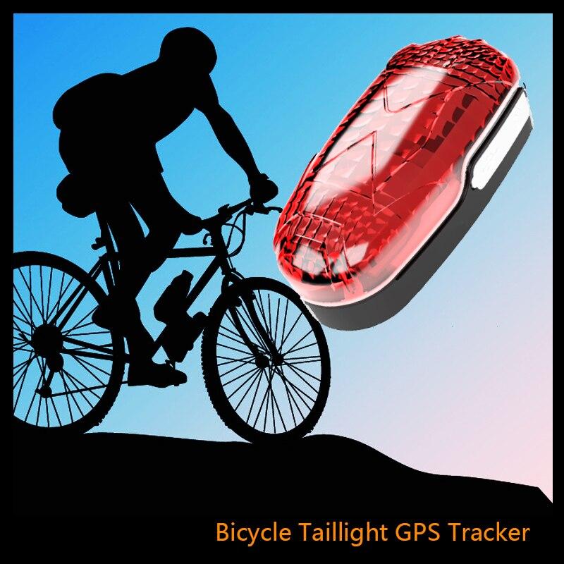 Vélo caché GPS Tracker Tk906 avec alarme de choc de mouvement vélo feu arrière vélo lumière GPS localisateur vélo dispositif de suivi APP gratuite
