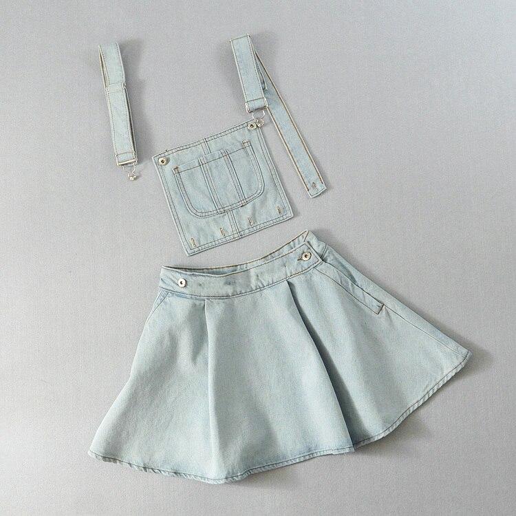 Vivi Japan Strap Schule Denim Kleid Für Damen Dunkelblau Abnehmbare - Damenbekleidung - Foto 5