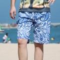 Летний Пляж Свободные Печати Коротких Досках Бермуды Quick Dry Удобная Мужская Растянуть Boardshorts