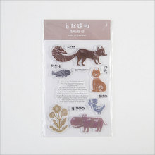 Cute animal Diary silicone transparent Clear Stamps for scrapbook DIY Photo album Rubber Stamps wyf842 scrapbook diy photo album account transparent silicone rubber clear stamps 11x16cm how lovely owl autumn is calling