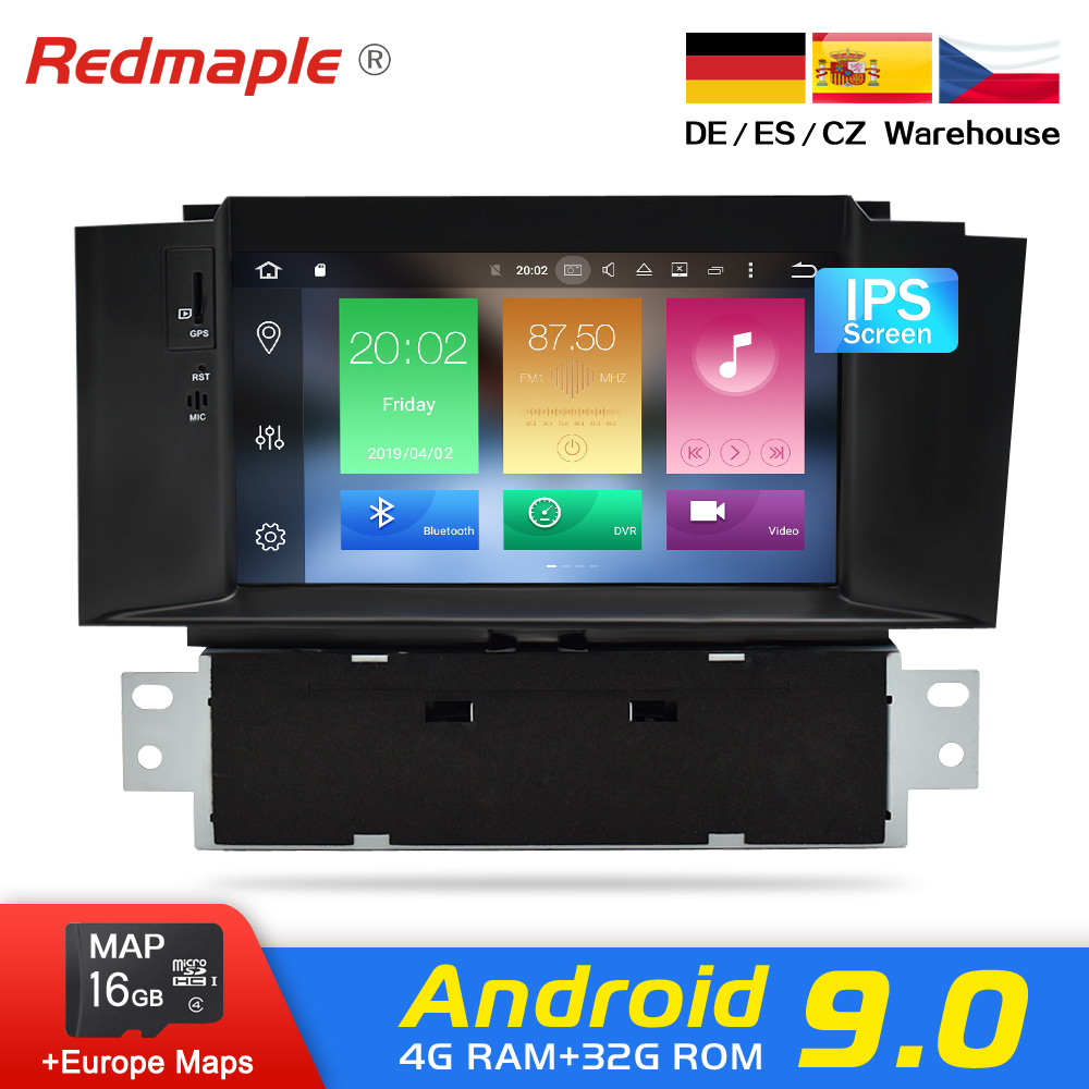 4G RAM Android 9.0 Car Radio DVD GPS Navigation Multimedia Player For Citroen C4 C4L DS4 2011-2016 Auto Audio WIFI Video Stereo