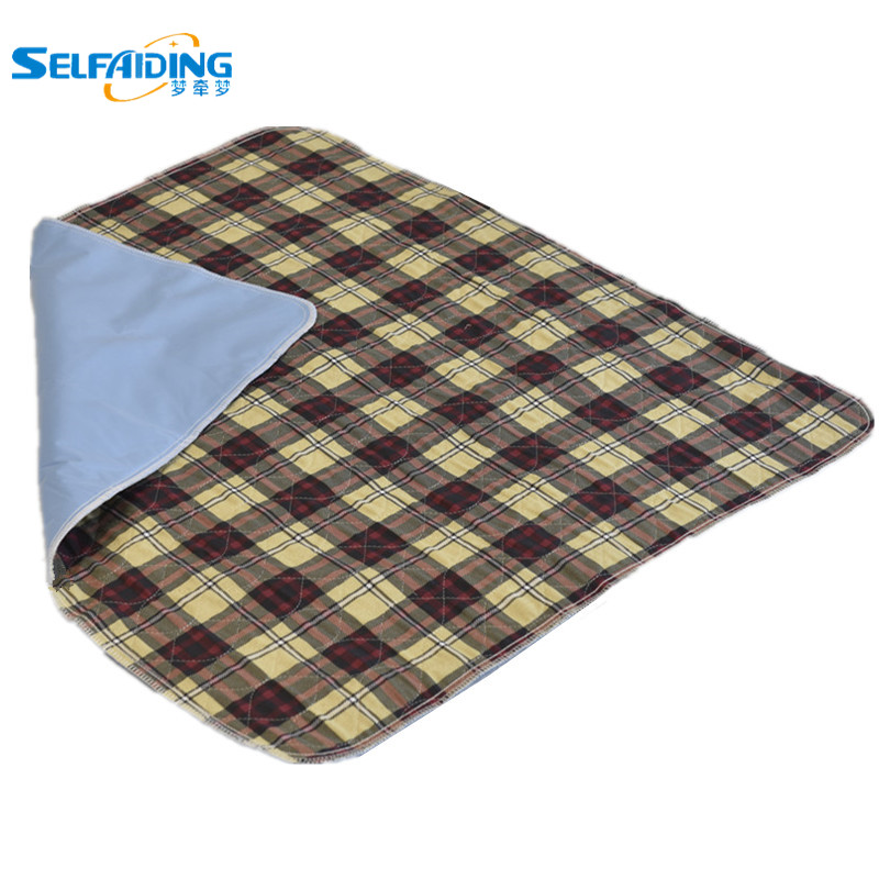 Plaid Premium Absorbent Waterproof Bed Pad (80*90cm) - Washable for Underpad Incontinence Protection for Adult, Child