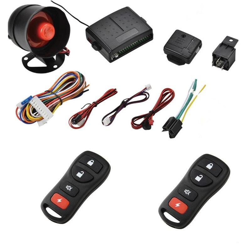 Système d'alarme de voiture Multiple sans clé entrée automatique fenêtre de fermeture système de sécurité de voiture capteur à ultrasons alarme de verrouillage Central à distance