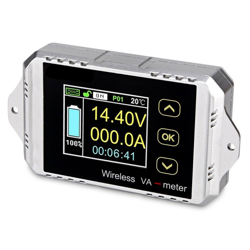 Ledsmith Dc 0 120v 30a Color Lcd Display Digital Bi Directional Current Relay Meter Multifunctional Wireless Voltage Power Ammeter Capacity Time With