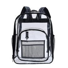 Pvc Clear Backpack Women Large Capacity Waterproof Transparent Shoulder Bag for Teenage Girls Safety Candy Color Student