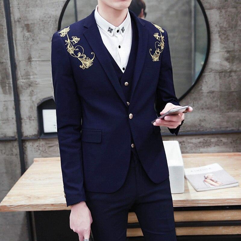 2018-Latest-Coat-Pants-Designs-Royal-Blue-Burgundy-Black-Groom-Tuxedos-Gold-Embroidery-3-Piece-Slim (1)