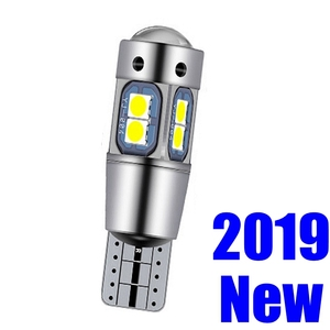 1Pcs T10 Super Bright 10 SMD 3030 LED Canbus No Error Auto Parking Light W5W Car Wedge Tail Side Bulb Interior Reading Dome Lamp