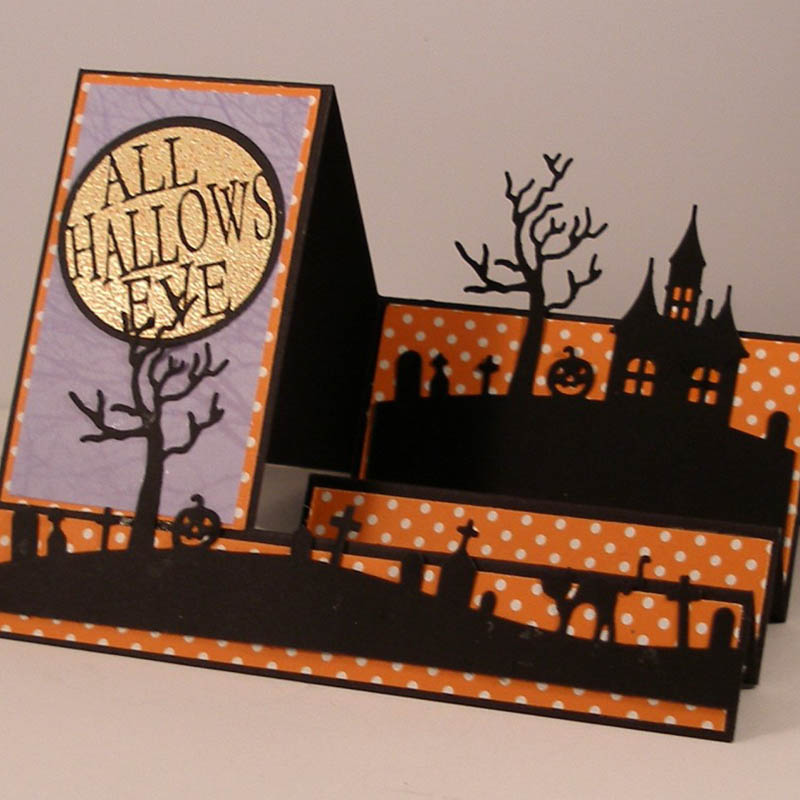 <font><b>Halloween</b></font> Castle Carbon steel Cutting <font><b>Dies</b></font> Stencil Craft for DIY Creative Scrapbook Cut <font><b>Stamps</b></font> <font><b>Dies</b></font> Embossing Paper Craft 1pc image