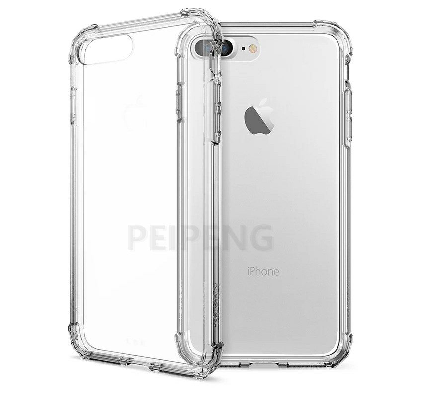 PEIPENG  Luxury phone CaseThickened anti-fall For iPhone XS MAX XR X Ultra Thin Transparent Back Case For iPhone 6 6s 7 8Plus Simple 11