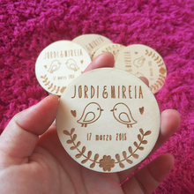 personalized Birds save the date magnet,Wooden Saved the Date, Wedding birthday baby bridal shower party favors gifts