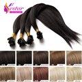 Fusion U/Nail Tip Hair Extension Straight Brazilian Virgin Natural Hair Tips Keratin Capsule Hair Extensions 18colors,100s/bag