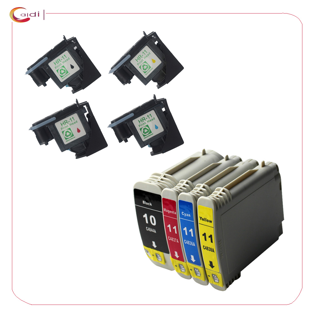 4pcs Regeneration hp11 printhead hp11 C4810A print head C4810A printhead Compatible for hp 10 11 ink cartridge Inkjet 2000c original spectra polaris 512 printhead high performance inkjet printhead