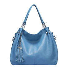 купить KEVIN YUN Fashion high quality women handbag split leather bag tassel female shoulder messenger bags lady дешево